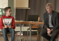 Schüler diskutieren mit Bürgermeister