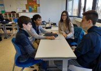 Progymnasiasten im Austausch mit Humboldt-Schülern
